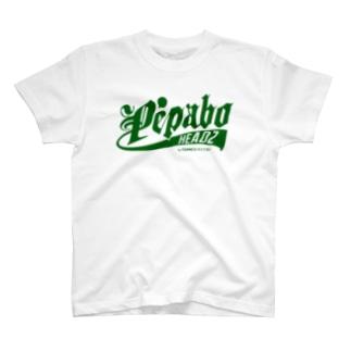 PEPABO HEADZ Green Logo T-shirts