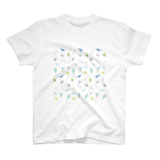 いっぱいセキセイインコちゃん【まめるりはことり】 T-shirts