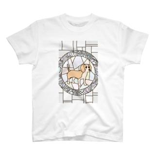 ビーグル レモン&ホワイト T-shirts