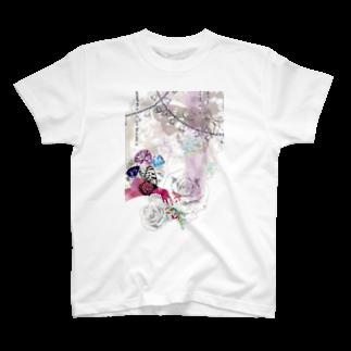 MEGの花蝶 T-shirts
