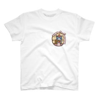 ゆめねこミシン(フルカラー) T-shirts