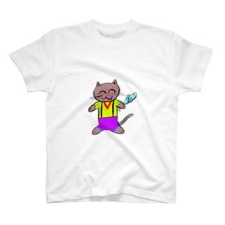 ニャトー伯爵の魚とれました T-shirts