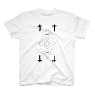 666 white. T-shirts