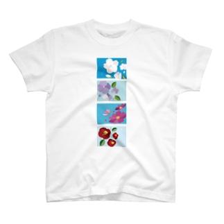 四季と花と雨 T-shirts