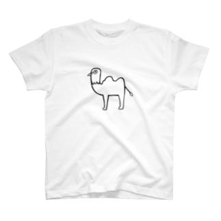 ぽっぽラクダ(mono) T-shirts