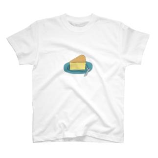 噂のチーズケーキ皿に乗せてみた T-shirts