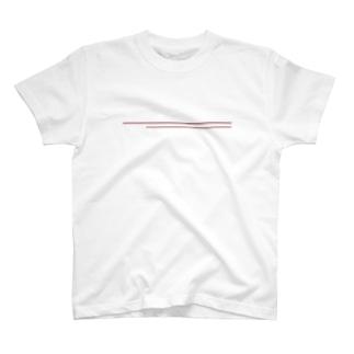 シンプルライン ブラウン T-shirts