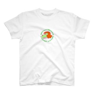 恐竜少女ガウ子 Red T-shirts