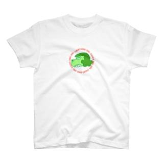 恐竜少女ガウ子 Green T-shirts
