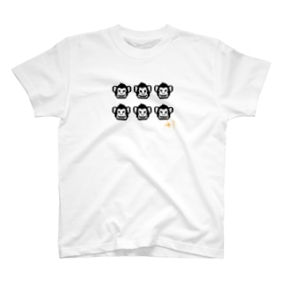 6人分真正面一人用Tシャツ T-shirts