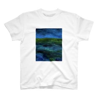 砂漠の夜 T-shirts