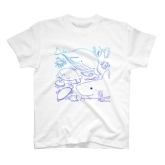 うみのなかまたち色 T-shirts