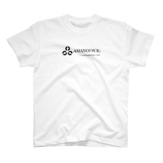 白地!AMANOJVCKロゴ T-shirts