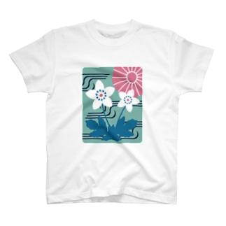 板橋アートシリーズ(二輪草) T-shirts