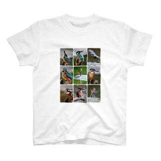 【にこらび】サロベツ原野のカワセミ T-shirts