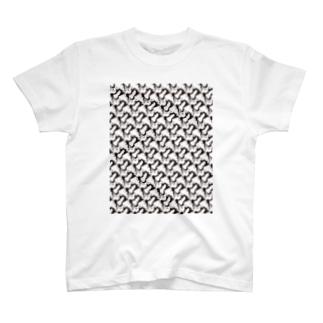 無限じゃれハチワレ猫/オス T-shirts