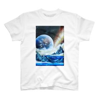 スプレーアート地球🌏オシムラ作品 T-shirts