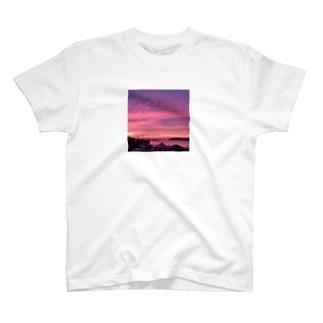 Sunsetピンク T-shirts