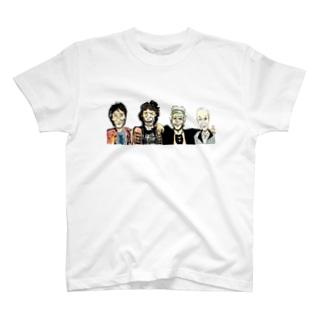 某バンドっぽい集合絵 T-shirts