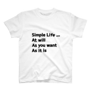 気ままやんず シンプルライフ (WHITE) T-shirts