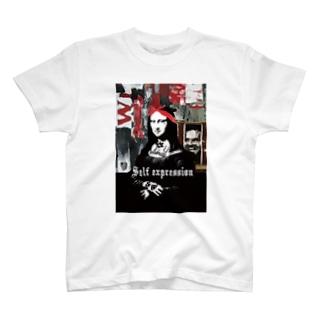 ストリートアート モナリザ T-shirts