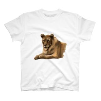 Animals シリーズ 〜ライオン〜 T-shirts
