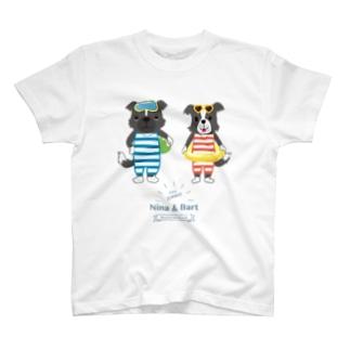【nina&bart】ニナとバート (Love SUMMER タテ) T-shirts