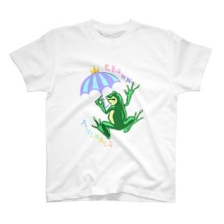 CROWNANIMALSーカエルー T-shirts