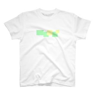 lightbluehourのスクエアカラー(イエローandライトグリーン) T-Shirt
