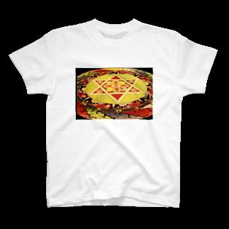 moonIbizaのチベット・サンド曼荼羅 T-shirts