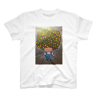 アフロヘルツ出てる T-Shirt