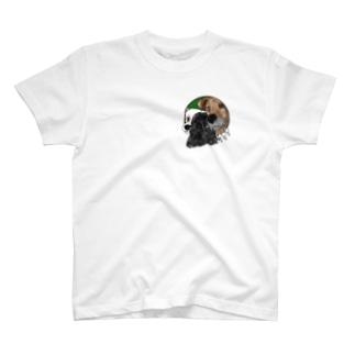 のぞく3匹の犬たち ミニ T-shirts