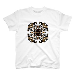 クロック(オレンジ) T-shirts