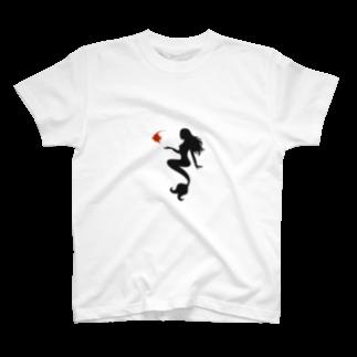 n3hide1982のMFD 人魚と魚 T-shirts