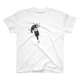 ラッコがどーん T-shirts