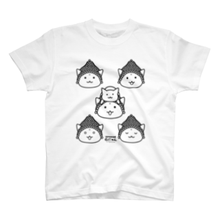 PygmyCat suzuri店の仏にゃんs(黒線) T-shirts