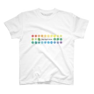 やんちゃかぶり🧢のThe Font Lace(横長) T-shirts