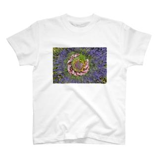 ぐるぐる花々 T-Shirt