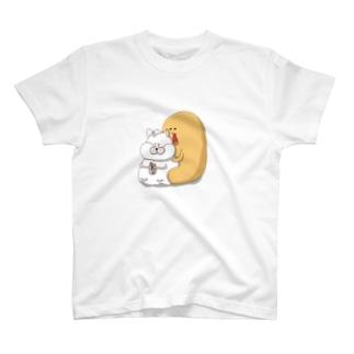 そっと、ギュッとじょんびすたステッカー T-shirts