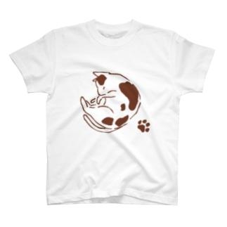 mymyのまるねこ肉球つき T-shirts