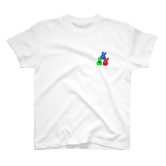光の三原色うさぎさん[改] T-shirts
