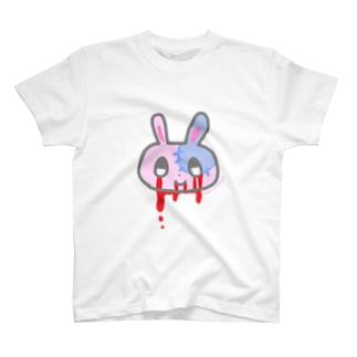 血濡れゾンビうさぎシャツ T-shirts