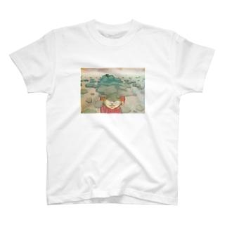 蹲(つくばい) T-shirts