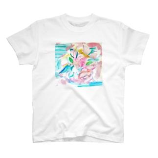 花のイロ T-shirts