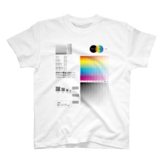 インクジェット印刷(白インクを使わない)によるサンプル T-shirts