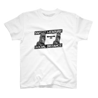 ソーシャルディスタンス(モアイ) T-shirts