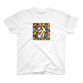 カラフルいぬよしBABY T-shirts