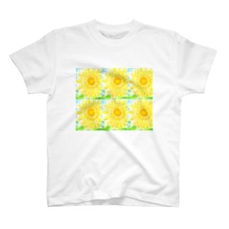 夏休み日記のひまわり T-shirts