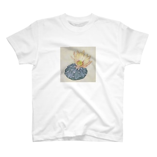 花付きサボテン T-shirts