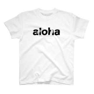 aloha (black)166 T-shirts